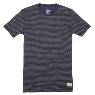 CLEPTOMANICX T-Shirt STRIPE dark navy