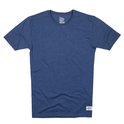 CLEPTOMANICX T-Shirt PATCH SCOOP heather blue