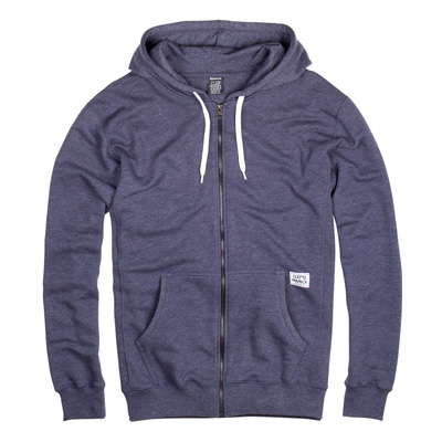 CLEPTOMANICX Hooded Zipper PATCH heather dark navy