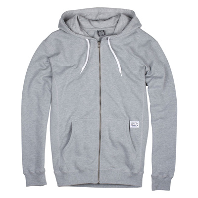 CLEPTOMANICX Hooded Zipper PATCH heather grey