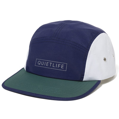 THE QUIET LIFE 5Panel Cap COLORBLOCK navy/green/white