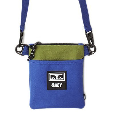 OBEY Bag CONDITIONS SIDE POUCH blue/lime