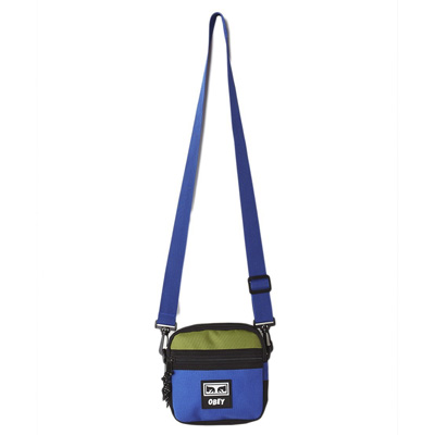 OBEY Bag CONDITIONS TRAVELER BAG black/blue/lime