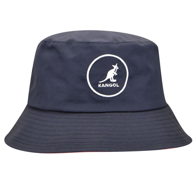 KANGOL Bucket Hat COTTON BUCKET navy/red