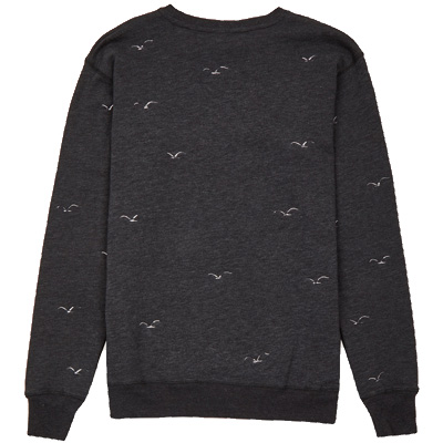 CLEPTOMANICX Sweater FLOCK OFF phantom black