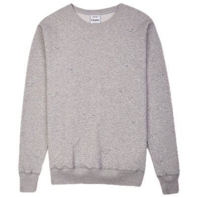 CLEPTOMANICX Sweater FLOCK OFF heather grey