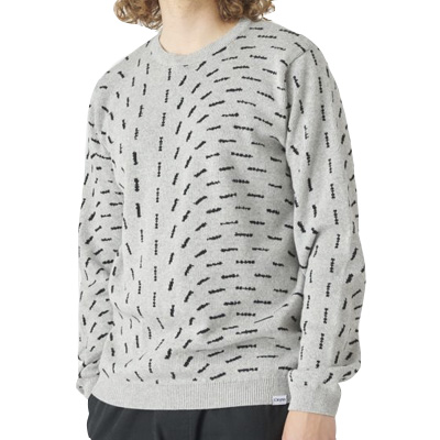 CLEPTOMANICX Knit Sweater CURRENT light heather grey