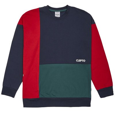 CLEPTOMANICX Sweater YESTERS dark navy/green/red