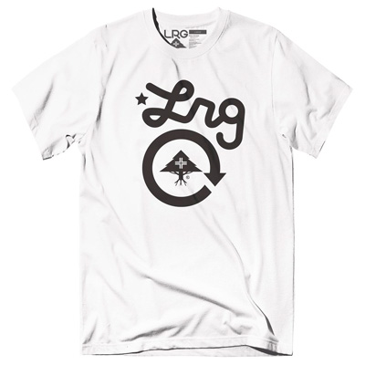 LRG T-Shirt CYCLE LOGO white/black