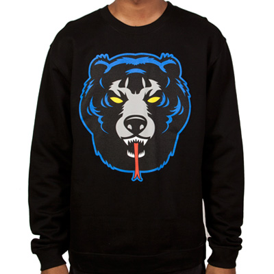 MISHKA Sweater DEATH ADDER black/blue