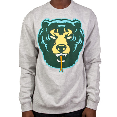 MISHKA Sweater DEATH ADDER heather grey/green