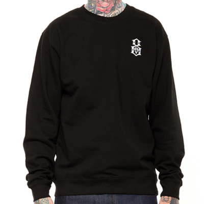 REBEL8 Sweater EMBROIDERED LOGO black/white