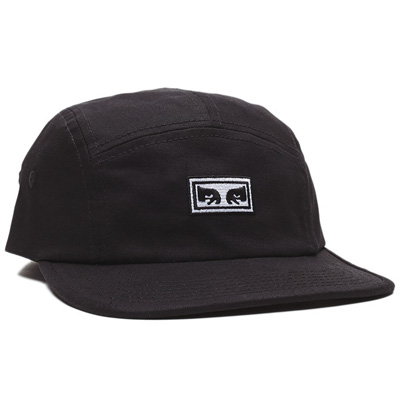 OBEY 5Panel Cap EYES black