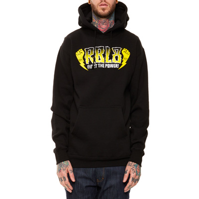 REBEL8 Hoody FIGHT THE POWER black