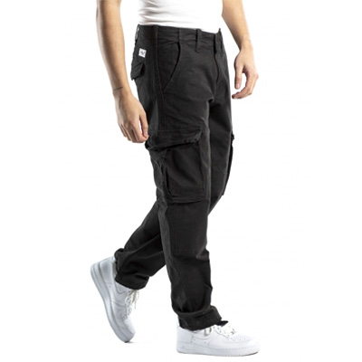 REELL Pants FLEX CARGO black canvas