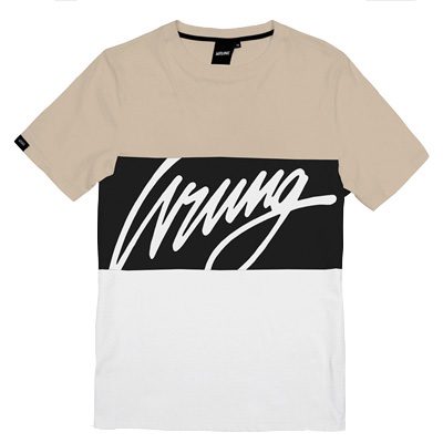 WRUNG T-Shirt FLOW beige/black/white