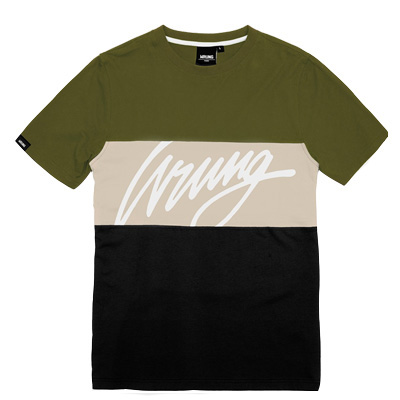 45b5630c11642 WRUNG T-Shirt FLOW khaki beige black