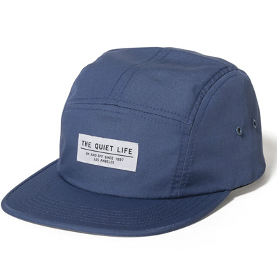 THE QUIET LIFE 5Panel Cap FOUNDATION steel blue