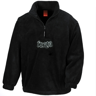 FUEGO Fleece Half Zip Logo black