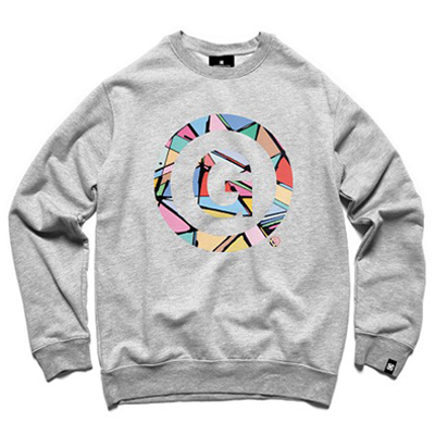 7TH LETTER Sweater G-STAMP heather grey