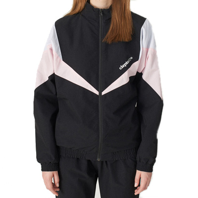 CLEPTOMANICX Girl Trackjacket TRACK 2 black/rose/white