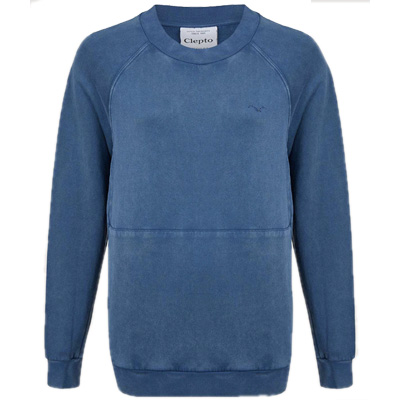 CLEPTOMANICX Girl Sweater BIG POCKET blue