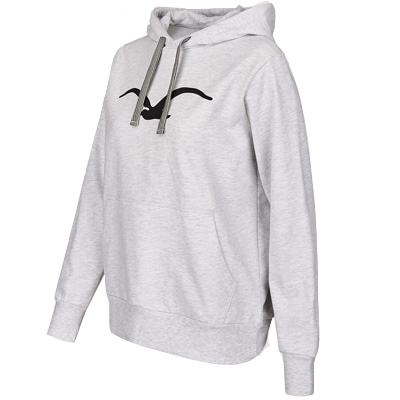 CLEPTOMANICX Girl Hoody MÖWE 3 heather grey/black