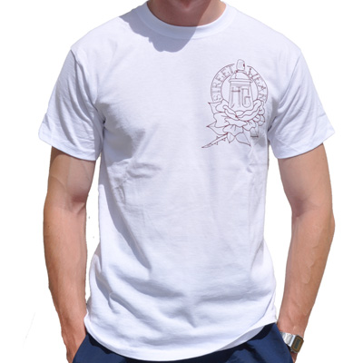 HG STREETWEAR T-Shirt ROSE white