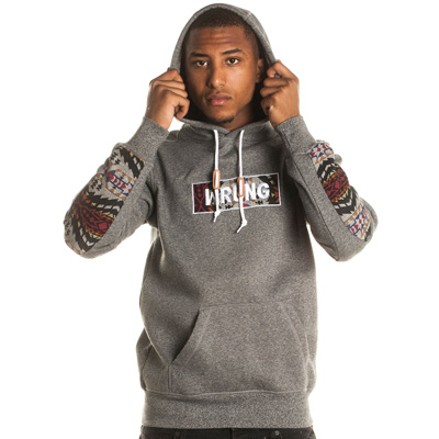 WRUNG Hoody BOX heather grey/ethnic
