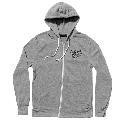 THE QUIET LIFE Hooded Zipper HUDSON heather grey