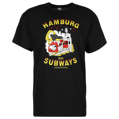 UNDERPRESSURE T-Shirt HAMBURG SUBWAYS black