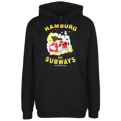 UNDERPRESSURE Hoody HAMBURG SUBWAYS black