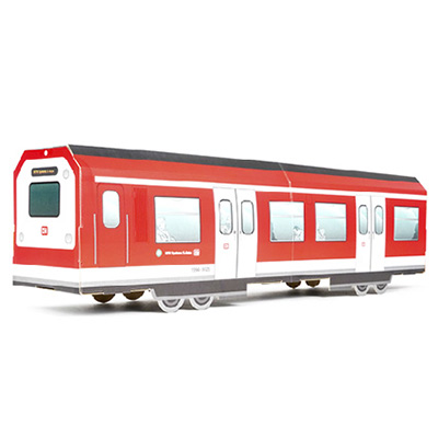 MTN SYSTEMS Folded Cardboard GERMAN S-BAHN