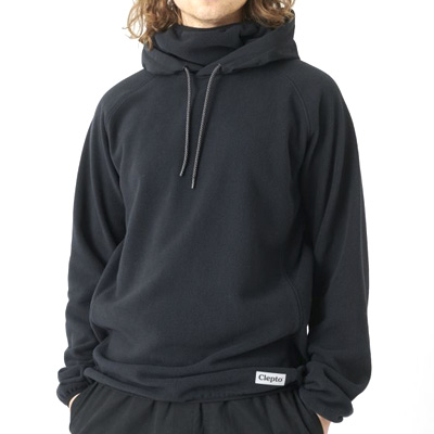 CLEPTOMANICX Facemask Hooded Fleece JONIN RIDES black