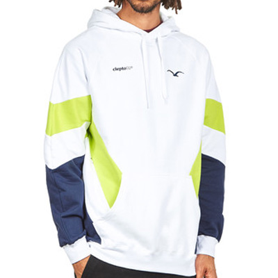 CLEPTOMANICX Hoody THAT IS THAT 2 white/lime/navy