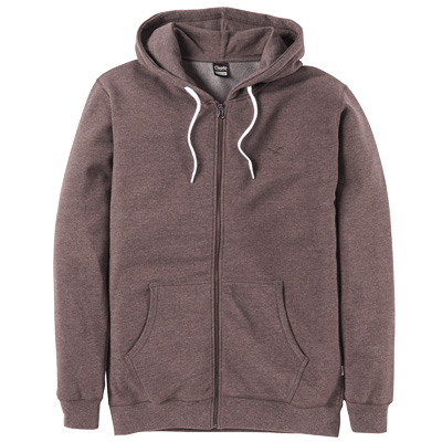 CLEPTOMANICX Hooded Zipper LIGULL II heather chocolate