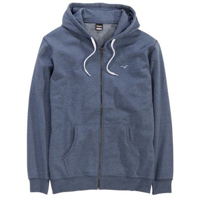CLEPTOMANICX Hooded Zipper LIGULL II heather blue