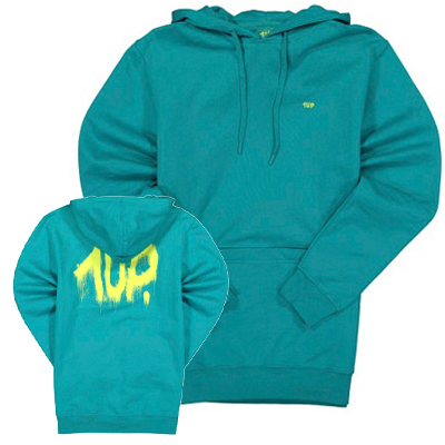 1UP Hoody FIRE EXTINGUISHER mint/yellow