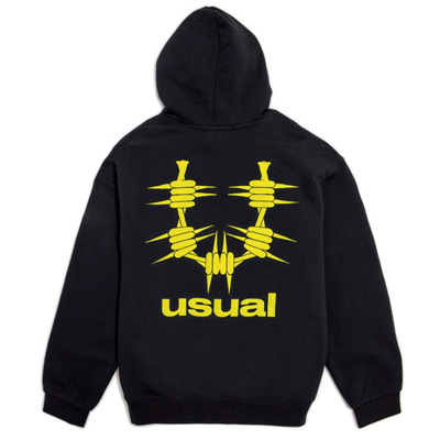USUAL Hoody U LOGO black/yellow