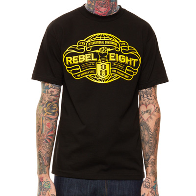 REBEL8 T-Shirt INTERNATIONAL DOMINATION black
