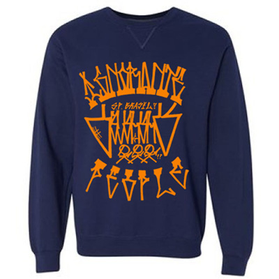 IGNORANT PEOPLE Sweater IP X OS navy/orange