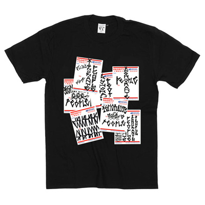 IGNORANT PEOPLE T-Shirt PRIORITY STICKERS black