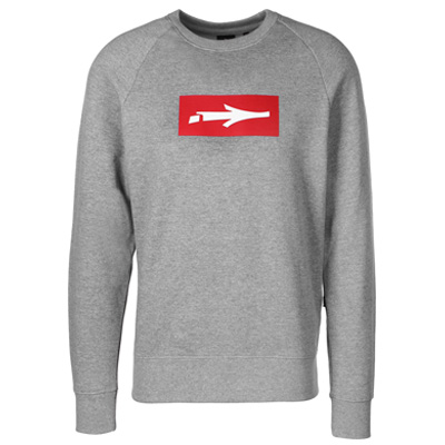 ILLMATIC Sweater INBOX heather grey/red