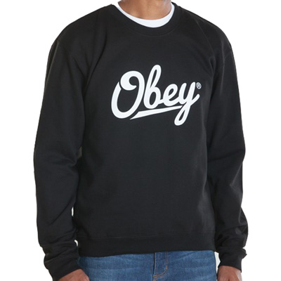 OBEY Sweater JORDAAN SCRIPT black/white