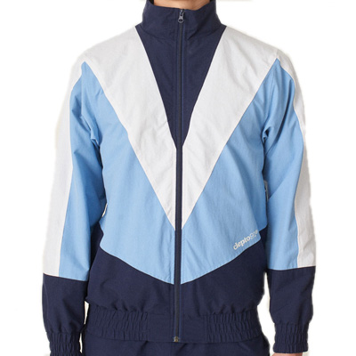 CLEPTOMANICX Trackjacket TRACK TWO dark navy/light blue/white