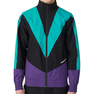 CLEPTOMANICX Trackjacket TRACK TWO petunia/turquoise/black