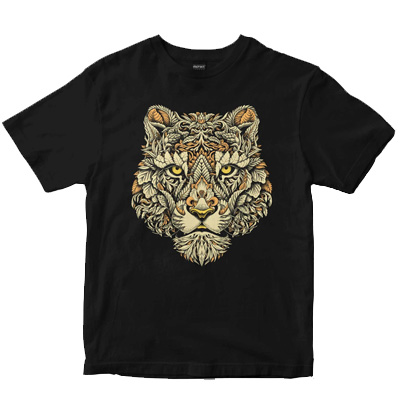 DEPHECT T-Shirt JUNGLE CAT black