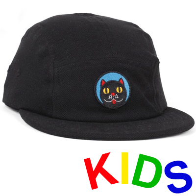 LASER 5Panel Cap CRISTINA DAURA CAT black - Kids