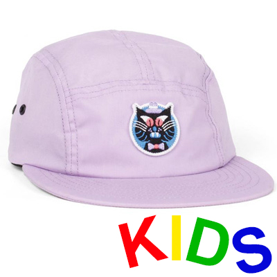 LASER 5Panel Cap HEDOF CAT lilac - Kids