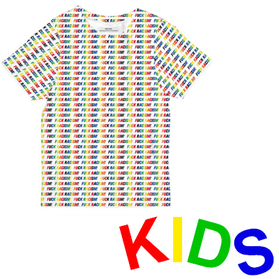 DEDICATED T-Shirt FUCK RACISM STRIPES white - Kids